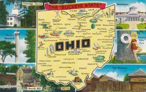Ohio Map The Buckeye State