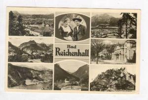 RP  Bad Reichenhall , Germany, 8-view postcard, PU-1950
