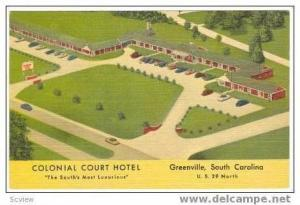 Colonial Court Hotel,Greenville,South Carolina,30-40s