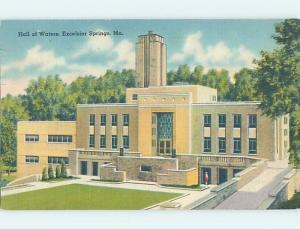 Linen BUILDING SCENE Excelsior Springs - Near Kansas City Missouri MO H6283
