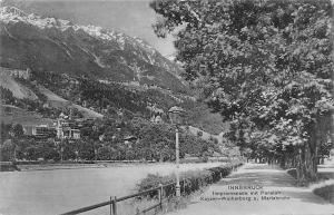 Austria Innsbruck Innpromenade mit Pension Kayser-Weiherburg u. Mariabrunn AK