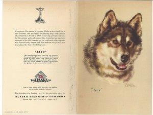 Alaska Line, S. S. BARANOF, MAy 17, 1949; Luncheon Menu, Jack