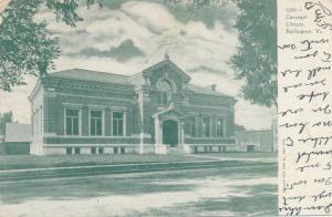 Carnegie Library at Burlington VT, Vermont - pm 1907 - UDB
