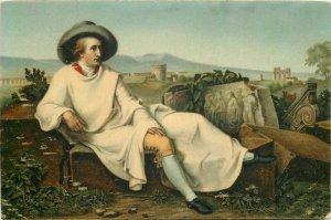 J.H. Wilhelm Tischbein - Goethe in Italy Stengel art postcard