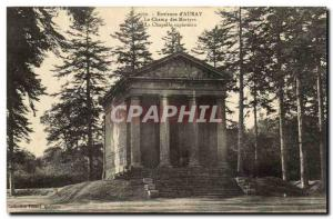 Near Saint Anne d & # 39Auray Old Postcard the martyrs of the field Chapel at...
