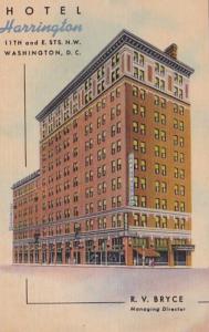 Washington D C Hotel Harrington Curteich