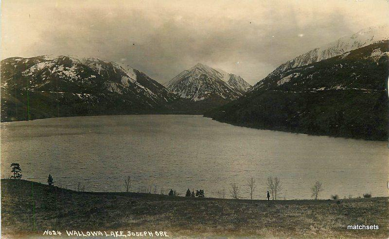 1920s Joseph Oregon Wallowa Lake #24 RPPC real photo postcard 8733