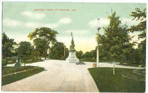 USA, Lawton Park, Ft. Wayne, Indiana, early 1900s used Postcard