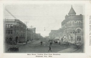 OKLAHOMA CITY, 1901-07 ; Main Street , Looking West from Broadway