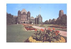 Parliament Buildings, Flower Beds, Toronto Ontario,
