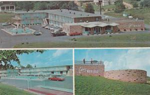 Classic Car and Swimming Pool, Exterior Views of the Embassy Motor Lodge, Roa...