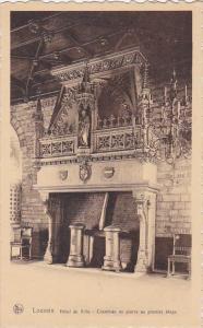 France Louvain Hotel de Ville Cheminee en pierre au premier etage