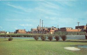 Seaford Delaware~Du Pont Nylon Factory from Across River~1960s Postcard