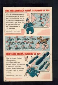 Mint WW2 Portugal  Postcard British Navy Sinks German U Boat