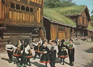 Setesdal Farm Farming House Folk Dance Dancing Norway Norwegian Photo Postcard