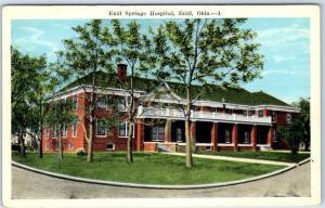 Enid, Oklahoma Postcard Enid Springs Hospital Building View Kropp c1920s Unused