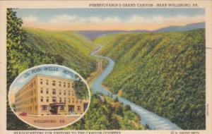 Pennsylvania Wellsboro The Penn-Wells Hotel 1947 Curteich