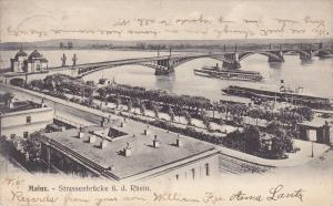 Strassenbrucke u. d. Rhein, Mainz (Rhineland-Palatinate), Germany, PU-1907