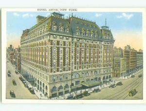 Unused W-Border ASTOR HOTEL New York City NY hr9029