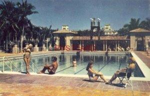 1954 BOCA RATON HOTEL AND CLUB, Boca Raton, FLA. bathing beauties at Garden pool