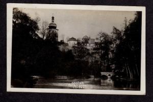 Czechoslovakia Partie z parku Opocno Postcard Real Photo RPPC RP Ceskoslovensko