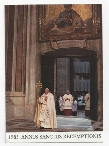 Holy Year of Redemption 1983/84 John Paul II opens the Holy Door, PU-1983