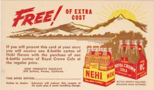 FRESNO, California, 1900-1910s; ADV: Royal Crown Cola, Nehi Products Company