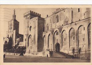 France Avignon Facade principale du Palais des Papes 1934