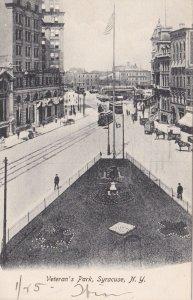 New York Syracuse Trolleys At Veteran's Park 1907 sk5394