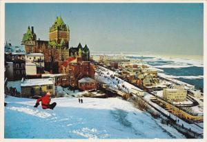 Winter Scene, Chateau Frontenac, QUEBEC CITY, Quebec, Canada, PU-1985