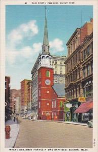 Where Benjamin Franklin Was Baptisted Boston Massachusetts