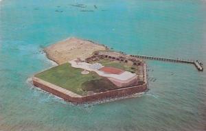 Aerial View of Fort Sumter, Charleston, South Carolina, 40-60s