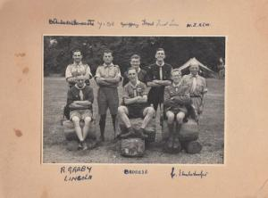 Devon Lincoln Scouts Boy Scouting World Leaders Antique Photo Hand Signed