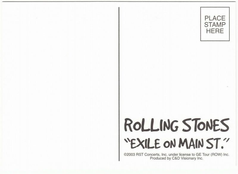 Postcard of The Rolling Stones Exile on Main St 1972 Album