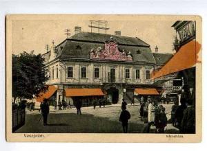 126577 HUNGARY VESZPREM Varoshaza Vintage postcard