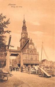 Alkmaar Holland Waag met brug Alkmaar Waag met brug