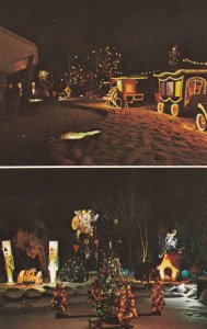 ORISKANY, New York, 40-60s ; 2-Views, Beautiful Trinkaus Manor at Night
