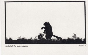 DIEFENBACH : Fantasy Silhouette , 00-10s ; Teilbild 13 ; Monkey