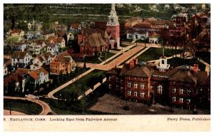 Connecticut Naugatuck ,  Aerial View looking East from Fairview Avenue
