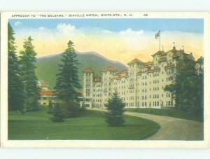 W-Border APPROACH TO BALSAMS HOTEL White Mountains New Hampshire NH hr8623