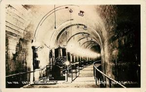 c1930 RPPC Interior Tunnel Arrow Rock Dam Boise ID W.Andrew No.156 unposted