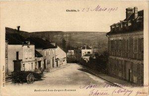 CPA Chablis - Boulevard Jean-Jacques-Rousseau FRANCE (960652)