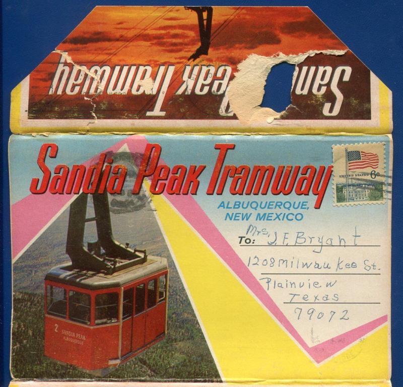 Sandia Peak Tramway Albuquerque New Mexico nm Postcard Folder