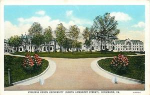 Richmond~Union Unversity~Christian Institution Of Learning~Flower Bushes 1920s