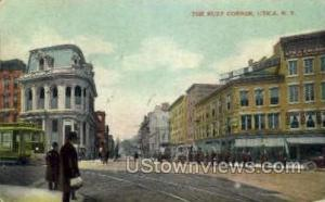 The Busy Corner Utica NY 1909