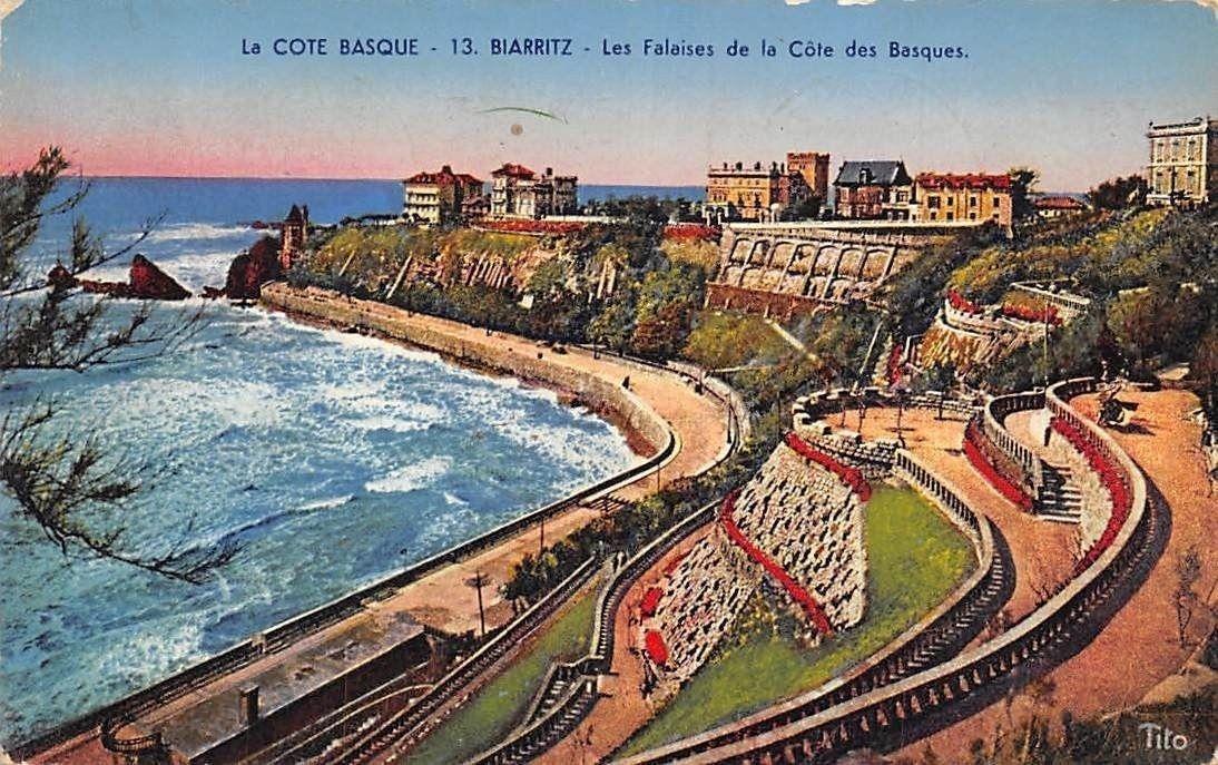 France La Cote Basque, Biarritz Les Falaises de la Cote ...