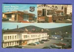 Gaspe, Quebec, Canada Postcard, Adams Motel/Restaurant Allan