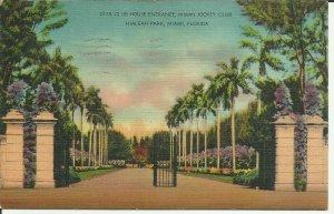 Club House Entrance,Miami Jockey Club, Hialeah Park, Miami, Florida