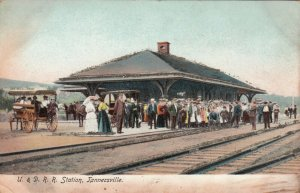 TANNERSVILLE , New York , 1901-07 ; U. & D. Railroad Startion, Glitter Detail