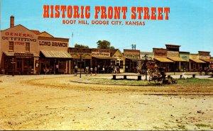 Kansas Dodge City Boot Hill Historic Front Street 1969